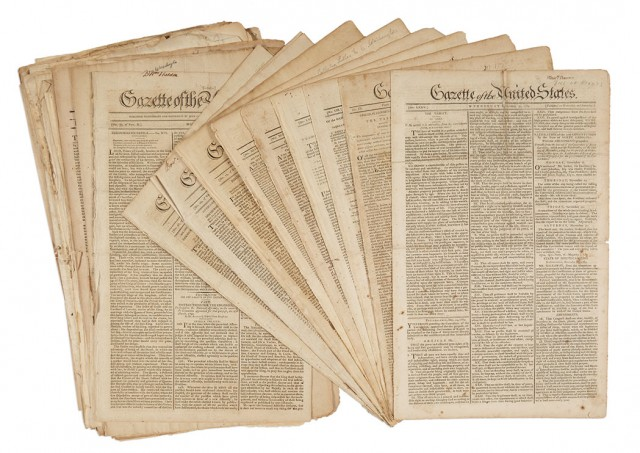 NEWSPAPERS] Large group of issues of the Gazette of the