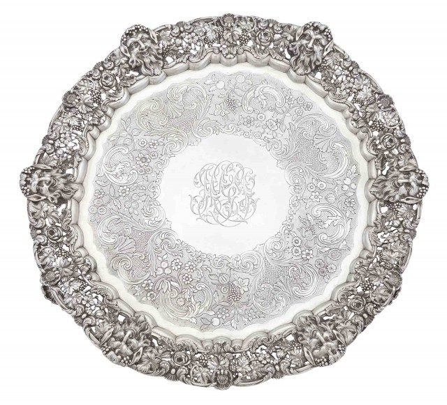 Large William IV Sterling Silver Salver
