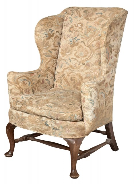 Fabulous Queen Anne Walnut Wing Chair Doyle Auction House Gamerscity Chair Design For Home Gamerscityorg