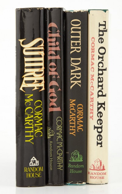 McCARTHY, CORMAC  First editions of the author\'s first four novels.