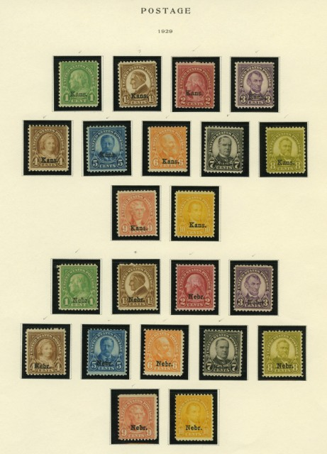 United States Definitive Issues 1922 to 1965