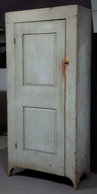 Gray Painted Cupboard