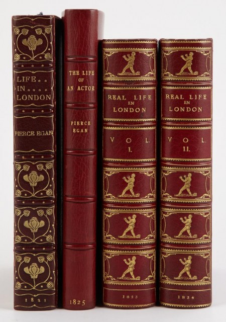 [EGAN, PIERCE]  Three finely bound titles.
