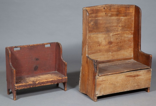 Two Pine Child's Settees