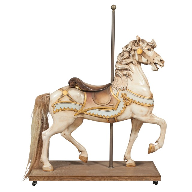 American Carved and Painted Outer Row Stander Carousel Horse