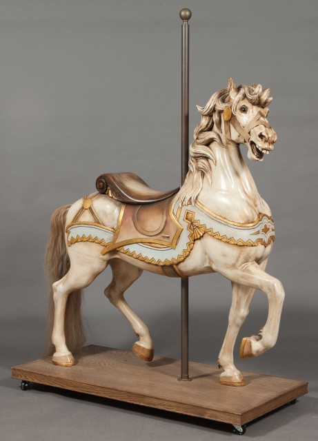 American Carved and Painted Prancer Carousel Horse