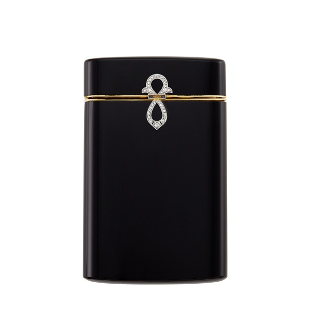 Art Deco Black Onyx, Gold, Platinum and Diamond Cigarette Case