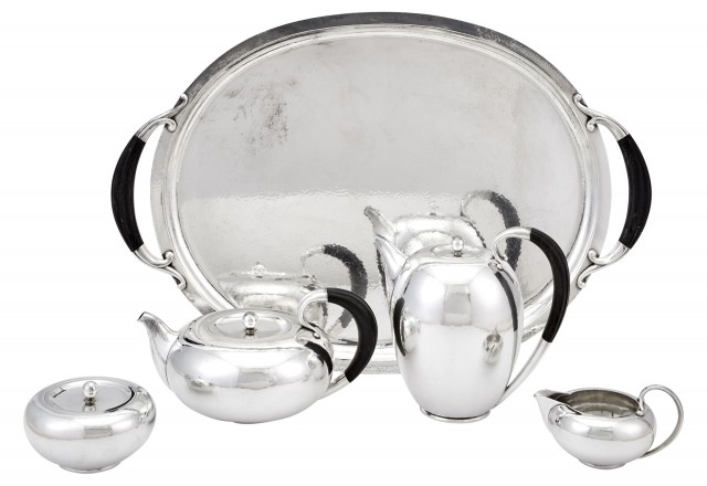Georg Jensen Sterling Silver Tea and Coffee Service and Tray