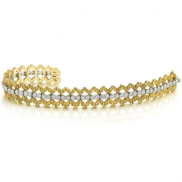 Two-Color Gold and Diamond Bracelet, Buccellati