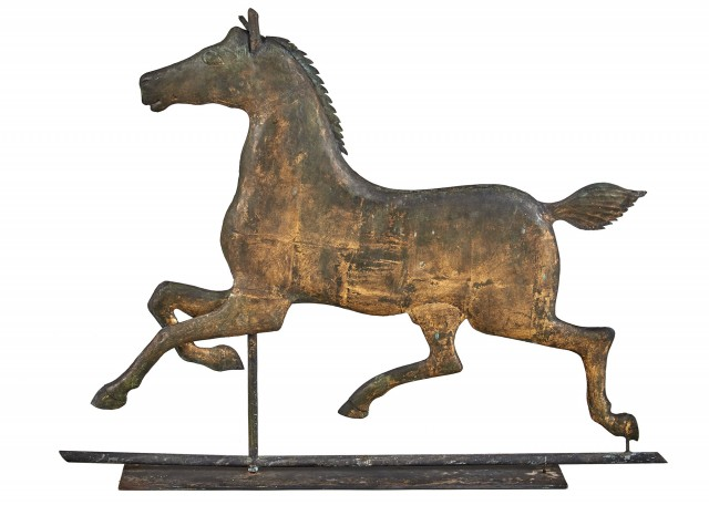 Copper Hackney Horse Weathervane