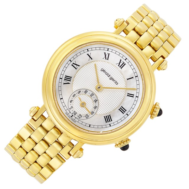 Gold and Mother-of-Pearl Dual Time Wristwatch, Gérald Genta for Graff