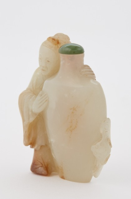 Chinese Celadon Jade Snuff Bottle