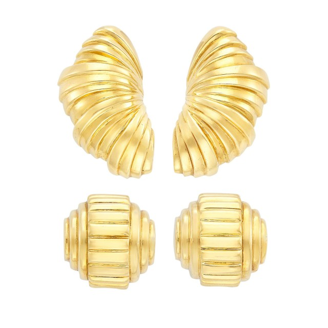 Two Pairs of Gold Earclips