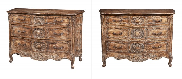 Pair of Rococo Style Painted Commodes