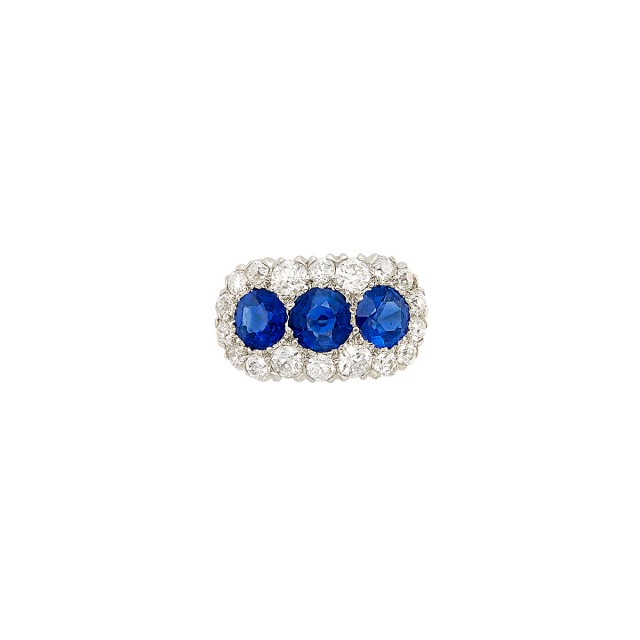 Antique Platinum, Gold, Sapphire and Diamond Ring, Tiffany and Co.