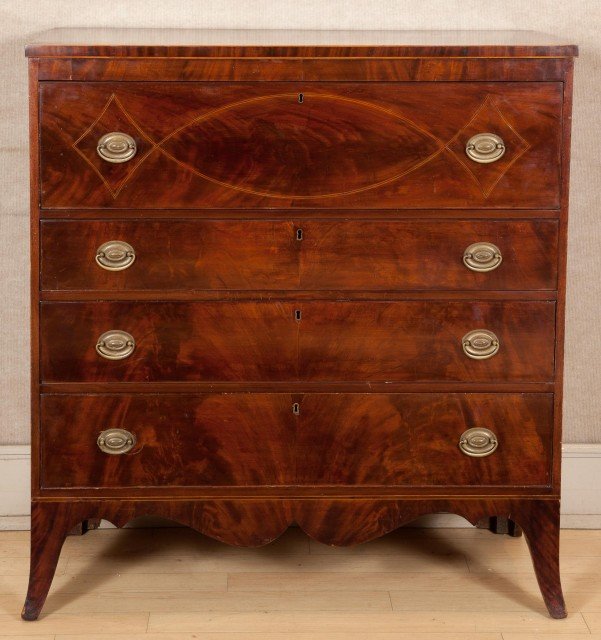 Federal Inlaid Mahogany Chest of Drawers