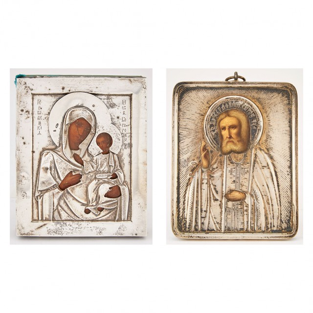 Russian Silver Icon of the Gerbovetskaya Mother of God