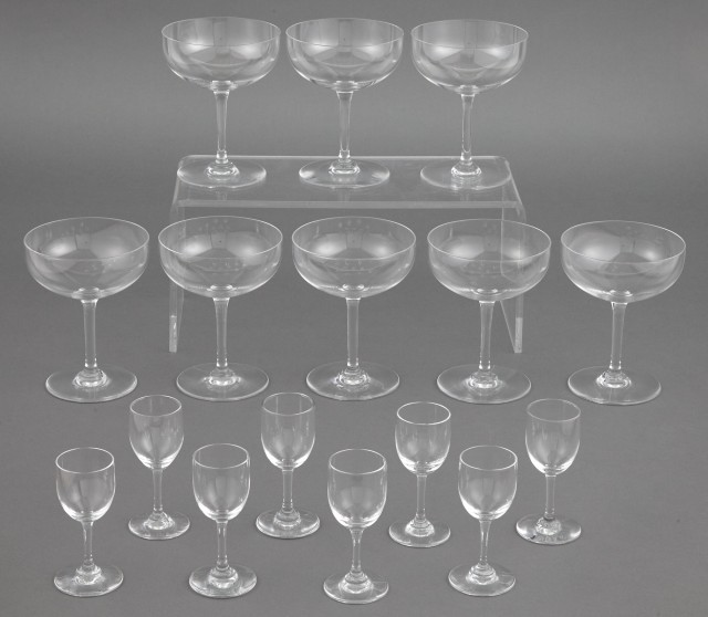 Baccarat Glass Partial Stemware Service