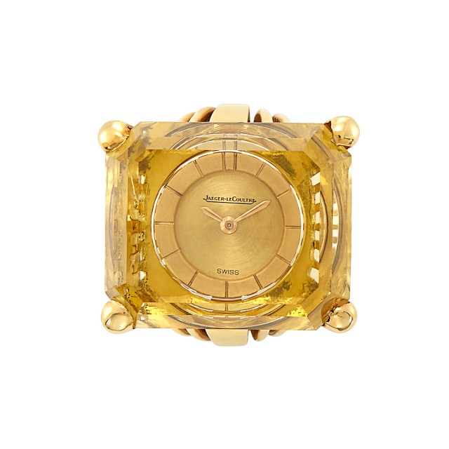 Gold and Citrine Watch-Ring, Jaeger LeCoultre, France