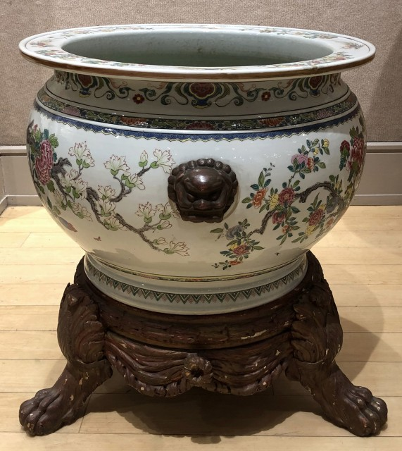 Chinese Famille Rose Porcelain Fish Bowl