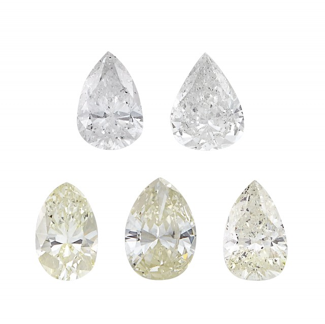 Five Unmounted Diamonds