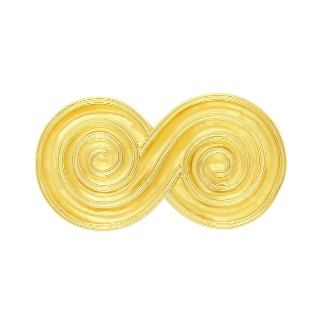 Gold Spiral Brooch, Ilias Lalaounis