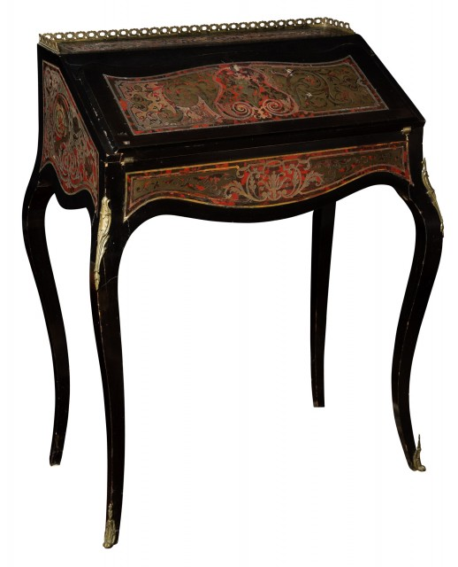 Napoleon III Boulle Marquetry and Ebonized Wood Ladies Writing Desk