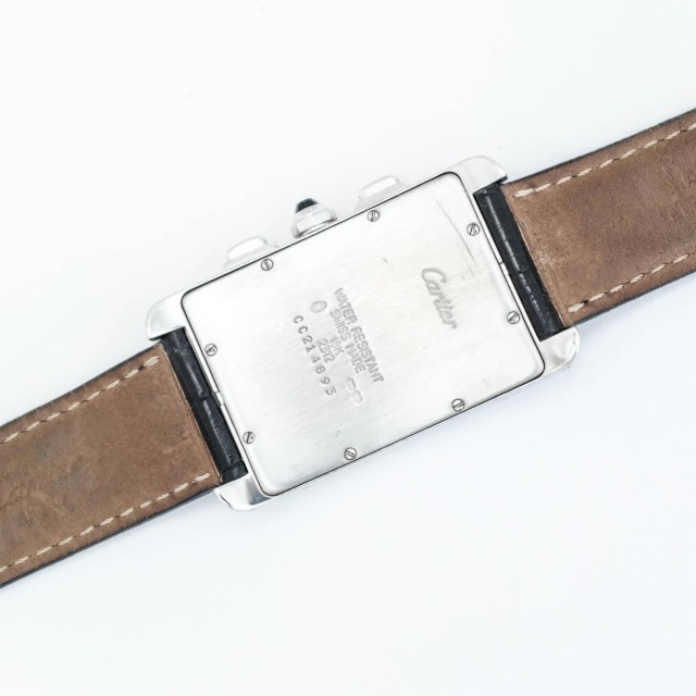 Cartier Gentleman's White Gold 'Tank Américaine Chronograph' Wristwatch, Ref. 2312