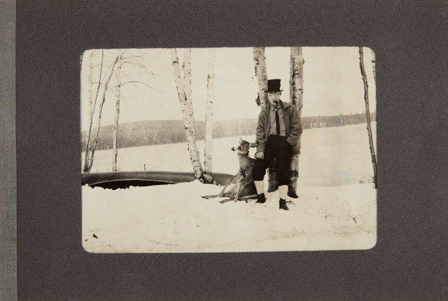[PHOTOGRAPHY]  Our visit to Betula Lodge, Camp of Henry A. Bishop, Carr Pond, Portage, Maine, November 1912.