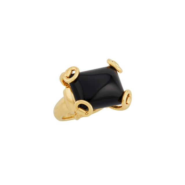 Gold and Onyx Ring, Gucci