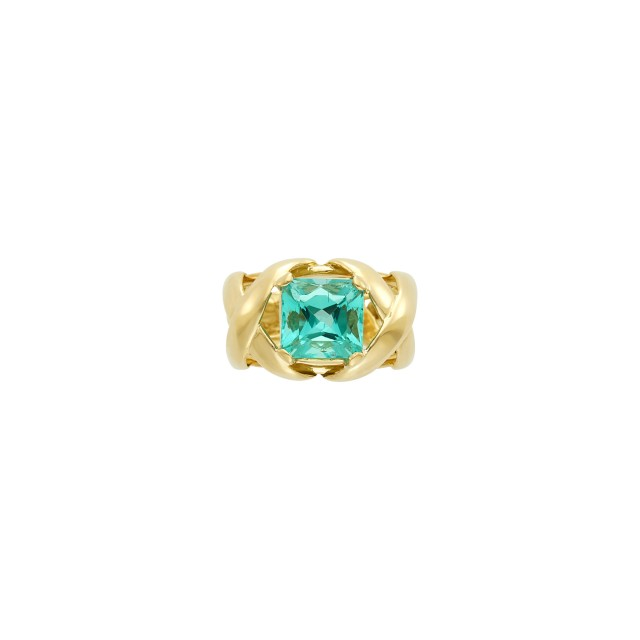 Tiffany & Co., Schlumberger Gold and Emerald Ring