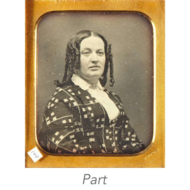 [DAGUERREOTYPE-PORTRAIT]  Two sixth-plate portrait daguerreotypes, both signed.