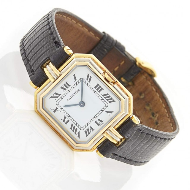 Tricolor Gold Wristwatch, Cartier