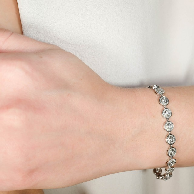 Tiffany and Co. Platinum and Diamond Bracelet