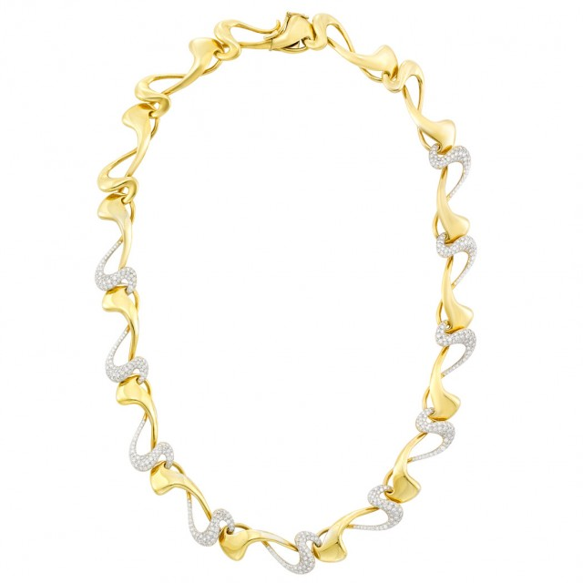 Two-Color Gold and Diamond Necklace, Diana Vincent