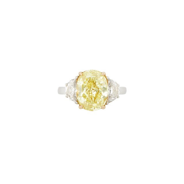Platinum, Gold, Fancy Yellow Diamond and Diamond Ring, Tiffany & Co.
