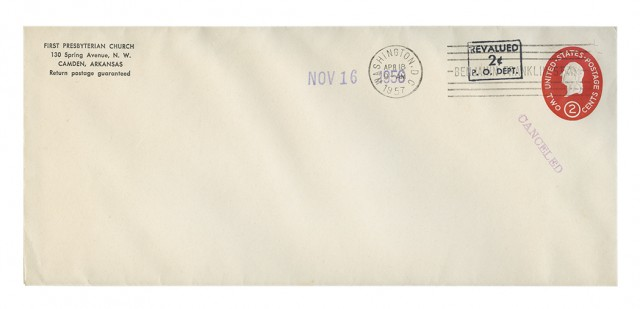 United States International Envelope Co. Boxed Revalued 2 Cent P.O. DEPT Surcharge