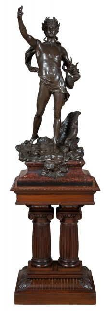 French Patinated Bronze Figure of Apollo