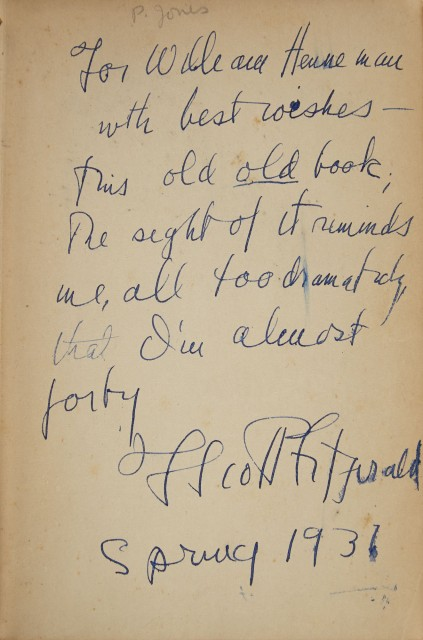 FITZGERALD, F. SCOTT  This Side of Paradise.