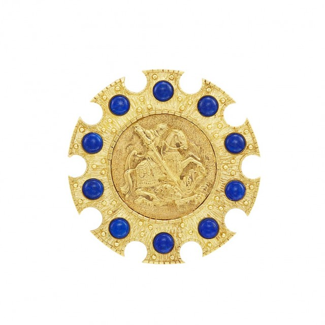 Gold and Lapis Pendant-Brooch, Cartier