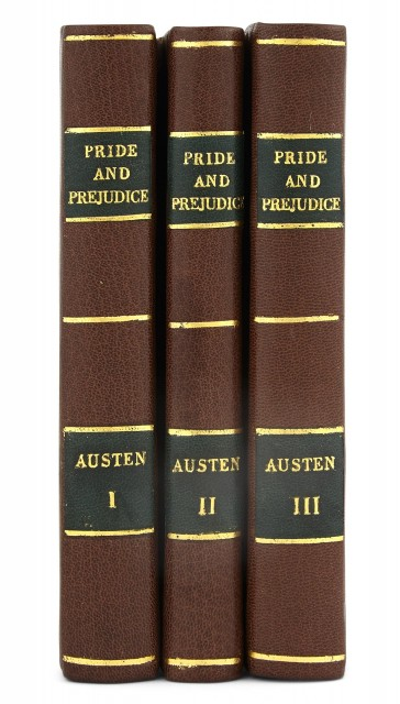 "AUSTEN, JANE  Pride and Prejudice: a Novel in three volumes By the Author of ""Sense and Sensibility"""