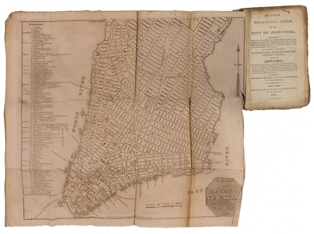 [NEW YORK - MAPS, GUIDES & VIEWS]  Group of antiquarian volumes, 1813-1832