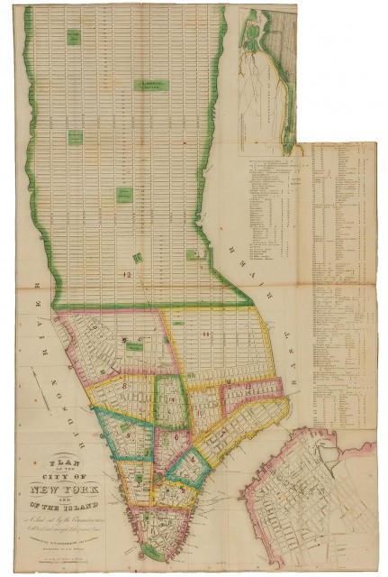 [NEW YORK - MAPS, GUIDES and DIRECTORIES]  Group of antiquarian volumes, 1830-1839