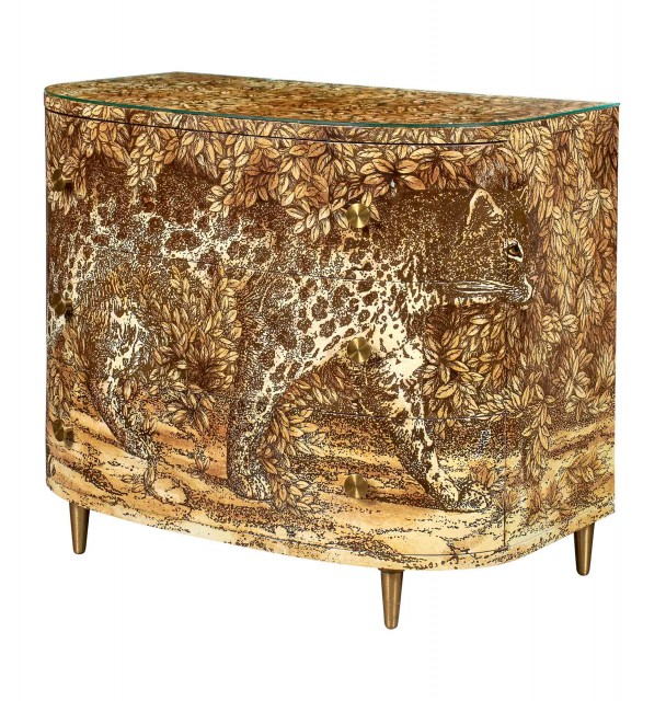 Piero Fornasetti Hand-Painted and Lithographed Wood Leopard