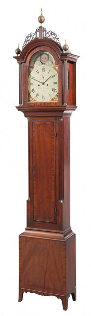 Federal Mahogany Tall Case Clock