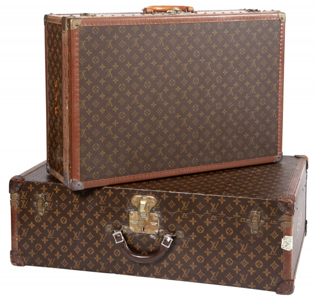 Two Louis Vuitton Suitcases