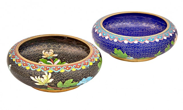 Two Chinese Cloisonné Bowls