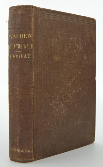 THOREAU, HENRY DAVID  Walden; or, Life in the Woods