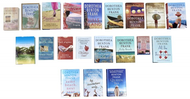 DOROTHEA BENTON FRANK  Collection of the author's twenty published books, including a signed signed and first edition copy of Lowcountry Summer.