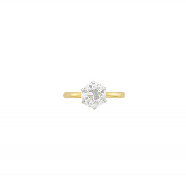 Antique Gold, Platinum and Diamond Ring